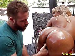 big ass, black, babe, interracial, outside, blowjob, huge tits, fingering, oiled body, boobs groping, round and brown, reality kings, chad white, ms.yummyxxx