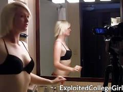 Hot college blonde gets banged pov style