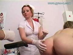 Gyno exam of young busty girl
