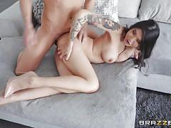 Brenna's wet pussy itches for bigger cock