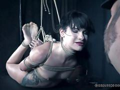 Sexy inked beauty gets tortured by her executor