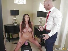 milf, wife, big tits, latina, sybian, fingering, pussy eating, sex toy, milfs like it big, brazzers, ariella ferrera, johnny sins