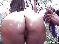 milf, interracial, big boobs, oiled, brunette, big booty, titjob, pov, big black cock, big tits, round asses, bangbros network, juliana x