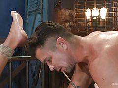 Hot wax & a hot gay bdsm