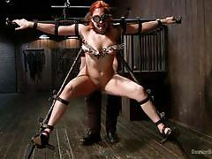 Hard & painful treatment for a bdsm slut