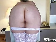 Kinky babe likes when i spank her ass