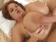 Redhead bbw titjob and blowjob