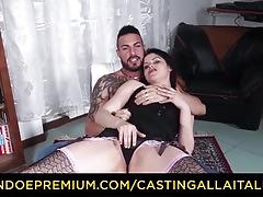 Casting alla italiana - hot babe in stockings pussy banged