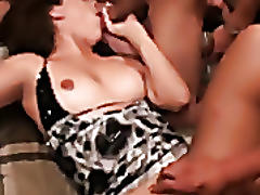 Wasted hottie fucked by her friends!