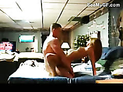 Real college couple fuck hard in different positions