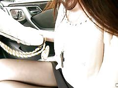asian, brunette, car sex, squeezing tits, yui hatano, i know that girl, mofos cash