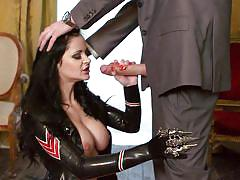 milf, heels, big tits, boots, uniform, blowjob, brunette, tit fuck, big dick, nice tits, pirate, anastasia brill, danny d, porn stars like it big, brazzers, jugg cash