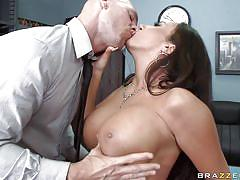 big tits, pantyhose, long hair, office, work, brunette, horny, undressing, licking tits, squeezing tits, juicy lips, richelle ryan, johnny sins, big tits at work, brazzers, jugg cash