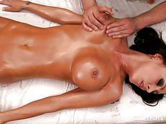 massage, big tits, oiled, fingering, brunette, naked, horny, pierced nipples, tight pussy, squeezing tits, jessica jaymes, mick blue, dirty masseur, brazzers, jugg cash