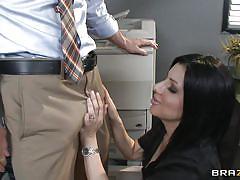 Johny sins getting a blowjob at work