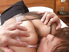 Japanese stewardess gets fucked after landing