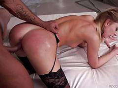Gorgeous ebony pornstar in a fantastic threesome action @ slutty girls love rocco #15