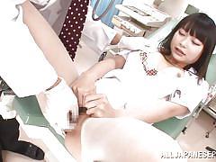 babe, japanese, nurse, stockings, blowjob, pussy fingering, gynecologist table, jp nurse, all japanese pass