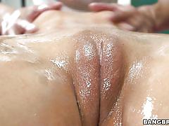 blonde, deepthroat, blowjob, big boobs, fingering, oil massage, shaved pussy, pussy rubbing, balls licking, porn star spa, bangbros network, phoenix marie, karlo karrera