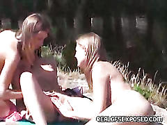 Lesbian teens go crazy on vacation