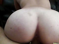 Stunning student amateur fucking on couch!