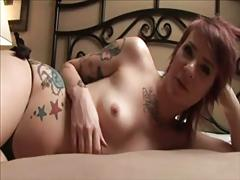 Sexy tatoo emo shows awesome body on cam