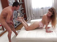 Flexible babe gets fucked in her ass @ rocco's intimate castings #12