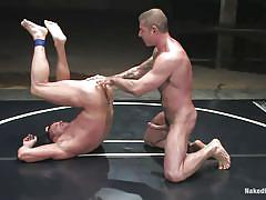 Dominating male fucking his slave mouth and more