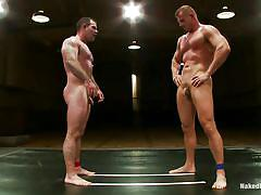 tatoo, gays, fighting, gay handjob, hot asses, on floor, tatami, gay wrestling, muscled gays, wrestling arena, cock on face, gay on knees, dak ramsey, mitch colby, naked kombat, kinky dollars