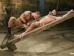 Pleasure and pain for a hot muscled gay