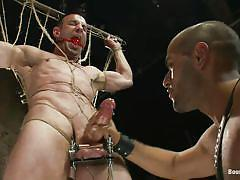 handjob, punishment, domination, gay bdsm, tattooed, tied up, gay bondage, gay blowjob, ropes, bondage device, shaved anus, vault, muscled gays, penis torture, leo forte, jason miller, bound gods, kinky dollars