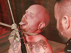 condom, bondage, bdsm, hanging, bubble butt, bald, tattooed, gays, tied up, nice ass, anal fuck, bearded guy, ropes, spencer reed, brock rustin, bound gods, kinky dollars