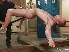 handjob, bondage, bdsm, torture, hanging, punishment, screaming, huge dildo, tied up, anal fuck, gay, ropes, executor, patrick rouge, men on edge, kinky dollars