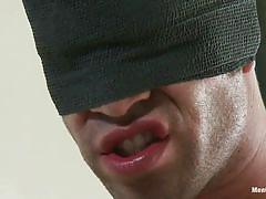 handjob, bondage, bdsm, punishment, domination, blindfolded, tied up, gay, ropes, troy collins, men on edge, kinky dollars
