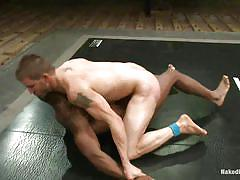 The loser takes a cock in his mouth