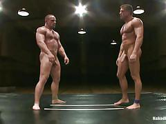 tattoo, wrestling, domination, naked, gays, hard cock, floor, gay blowjob, gay deepthroat, hunk, on knees, tatami, muscled guys, hot abs, combat, samuel colt, tyler saint, naked kombat, kinky dollars