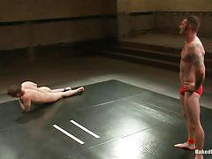 Hot and horny muscled gays wrestling