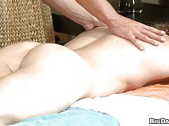 Gay with hot body receives head from his masseur