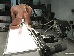 anal, big ass, solo, fucking machine, masturbating, screaming, black gay, jerking off, tight anus, oiled body, glass dildo, race cooper, butt machine boys, kinky dollars