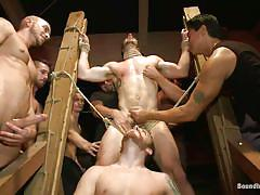 handjob, bondage, gang bang, abuse, public, domination, blowjob, blindfolded, gay bdsm, gays, from behind, nipple pinching, john jammen, jessie colter, sebastian keys, josh west, randall o'reilly, bryan cole, troy daniels, bound in public