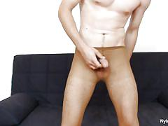 Horny young dude fucking a toy