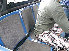 Guy sucking cock in the public bus