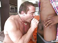 blowjob, gays, gay interracial, undressing, huge dick, sunglasses, muscular guy, bbc, izzy, skye woods, its gonna hurt, haze cash