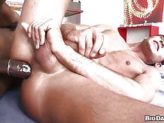 Two cock sucker gets cumshot from izzy