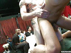 Gay dudes get fucked on the stage