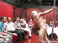 public, mask, muscle, gays, gay blowjob, gay party, sausage party, haze cash