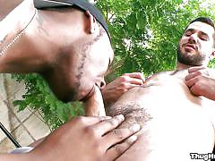 Gay man has his dick sucked by a black guy