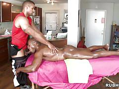 interracial, muscle, gay massage, gay blowjob, robert axel, rub him, haze cash