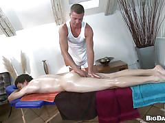 A gay has a massage and then gets fucked in the ass