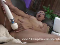 Adrian masturbates with a hitachi wand